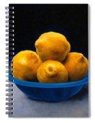 Bowl Of Lemons Spiral Notebook
