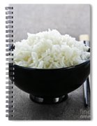 Bowl Of Rice With Chopsticks Spiral Notebook
