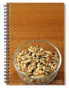 Bowl Of Shelled Walnuts Spiral Notebook