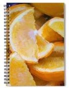 Bowl Of Sliced Oranges Spiral Notebook
