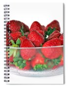 Bowl Of Strawberries Spiral Notebook
