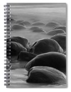 Bowling Ball Beach Bw Spiral Notebook