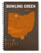 Bowling Green State University Falcons Ohio College Town State Map Poster Series No 021 Spiral Notebook