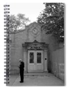 Bowling Green Subway Time In Black And White Spiral Notebook