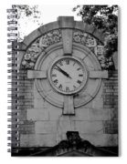 Bowling Green Time In Black And White Spiral Notebook