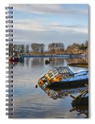 Bowling Harbour Panorama 01 Spiral Notebook