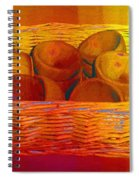 Bowls In Basket Moderne Spiral Notebook