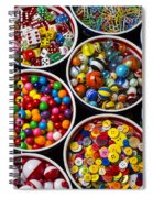 Bowls Of Buttons And Marbles Spiral Notebook