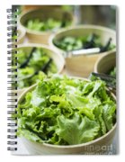 Bowls Of Salad Keaves Spiral Notebook