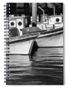Bows Out Black And White Spiral Notebook