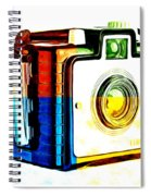 Box Camera Pop Art 3 Spiral Notebook