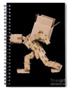 Box Character Carrying Large Box Spiral Notebook