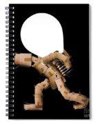 Box Character Carrying Light Bulb Spiral Notebook