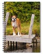 Boxer On Lake Dock Spiral Notebook