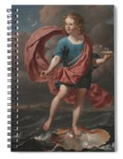Boy Blowing Soap Bubbles Spiral Notebook