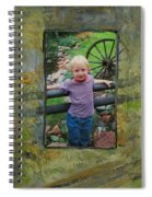 Boy By Fence Spiral Notebook