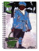 Boy Carrying Coal Circa 1901 Spiral Notebook