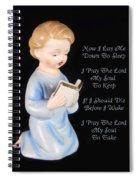 Boy Childs Bedtime Prayer Spiral Notebook