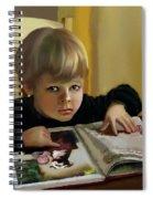 Boy In A Black Sweater Detail Spiral Notebook
