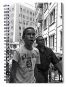 Boy In The Crowd - Sao Paulo Spiral Notebook
