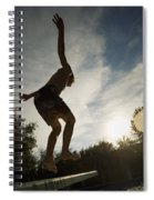 Boy Jumping Off Diving Board Spiral Notebook