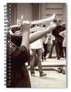 Boy On A Trumpet In Nola Spiral Notebook