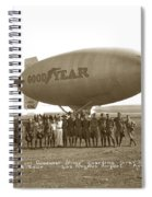 Boy Scouts And Goodyear Blimp Guarding Graf Zeppelin Los Angeles Airport Aug. 26 1929 Spiral Notebook