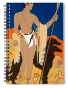 Boy Warrior With Two Borzoi Hounds Spiral Notebook
