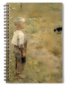 Boy With A Crow Spiral Notebook