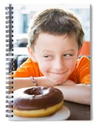 Boy With Donut Spiral Notebook