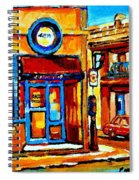 Boy With Steinbergs Bag Near Waldmans Market Paintings Colonial St Vintage Montreal Art C Spandau Spiral Notebook