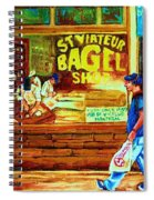 Boy With The Steinbergs Bag Spiral Notebook