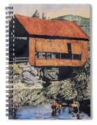 Boys And Covered Bridge Spiral Notebook
