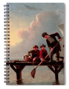 Boys Crabbing Spiral Notebook