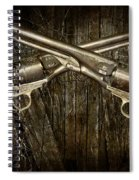 Brace Of Colt Navy Revolvers Spiral Notebook