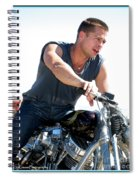 Actor - Brad Pitt On His Harley Spiral Notebook