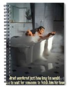 Brads Bath 1 Spiral Notebook