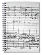 Brahms Manuscript, 1880 Spiral Notebook