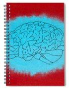 Brain Blue Spiral Notebook