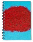 Brain Red Spiral Notebook