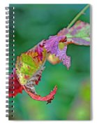 Bramble Leaves Spiral Notebook