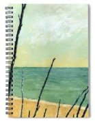 Branches On The Beach - Oil Spiral Notebook
