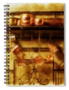 Brass Bench With Polished Copper And Brass Colllection Spiral Notebook