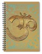 Gold Brass Om Mandala Spiral Notebook