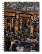 Brasserie Bofinger In The Rue De La Bastille, Paris, 1999 Oil On Canvas Spiral Notebook