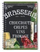 Brasserie Paris Spiral Notebook