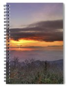 Brasstown Bald At Sunset Spiral Notebook