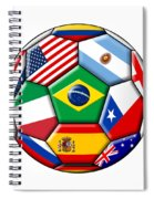 Brazil 2014 - Soccer With Various Flags Spiral Notebook