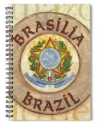 Brazil Coat Of Arms Spiral Notebook