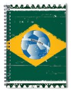 Brazil Flag Like Stamp In Grunge Style Spiral Notebook